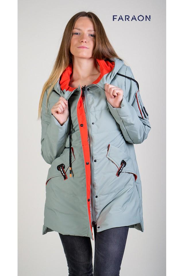 f25ec784c68f Куртка женская демисезонная цвета оливка M263 (Куртки и ветровки ...