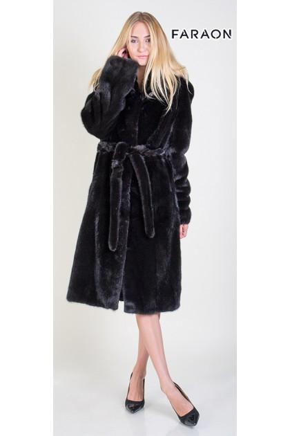 18002L Норкове пальто класика чорний