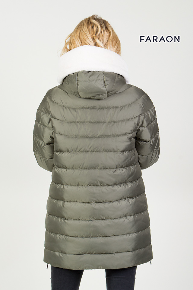 89fa7649834 Women s winter down jacket color olive (Down-padded coat Women s ...