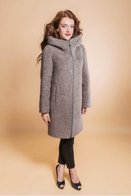 fm810 пальто капюшон сірий