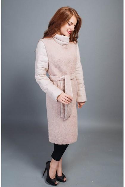 fm813 пальто трансформер рожевий