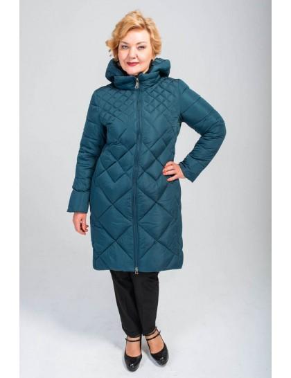 33 пуховик жіночий голубий
