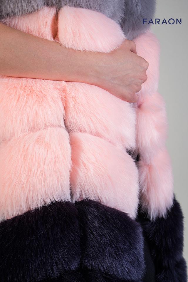 Ексклюзивна модель жіночої  жилетки з штучного хутра.
