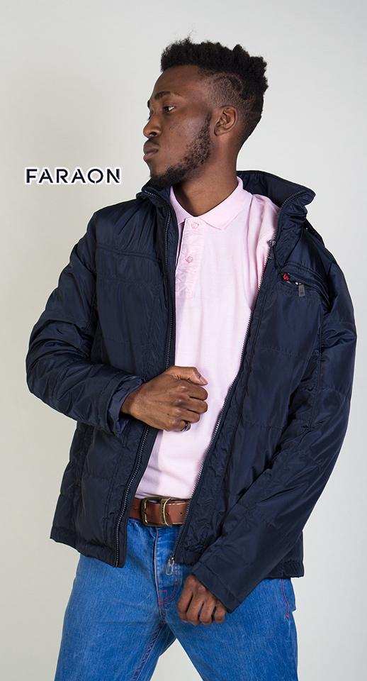 Купить куртку мужскую осеннюю облегчённую, куртка  мужская синего цвета воротник стойка