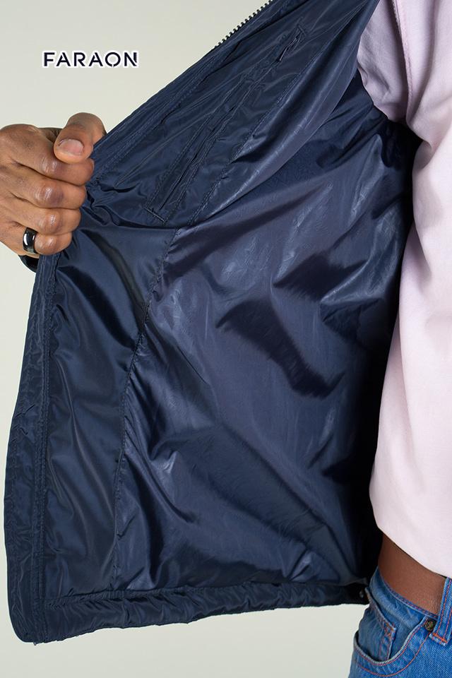 Куртка мужская синего цвета демисезонная воротник стойка