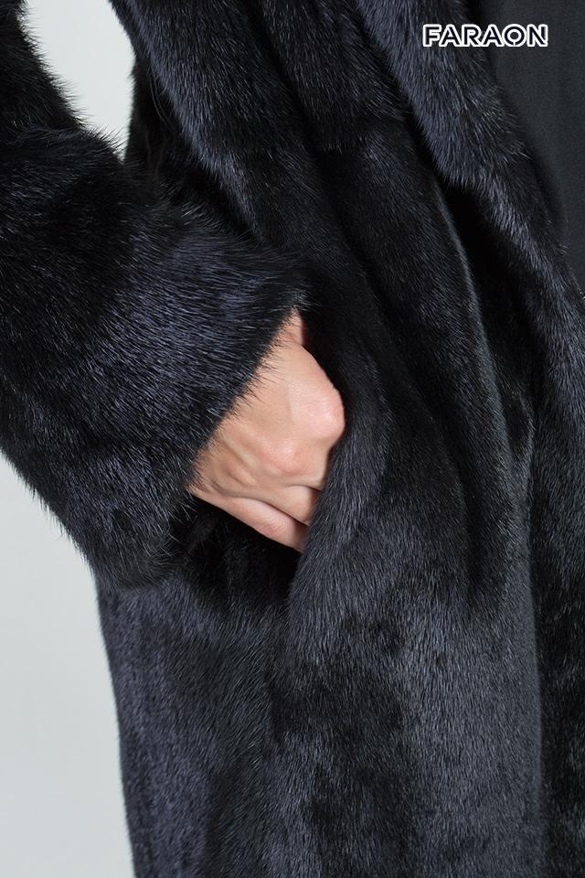 Женская шуба,канадка, шуба из норки, женское пальто из норки, шуба 105 см