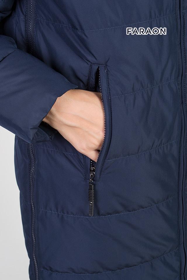 Женский зимний пуховик, женское пальто на биопухе, зимнее пальто - двустороннее.