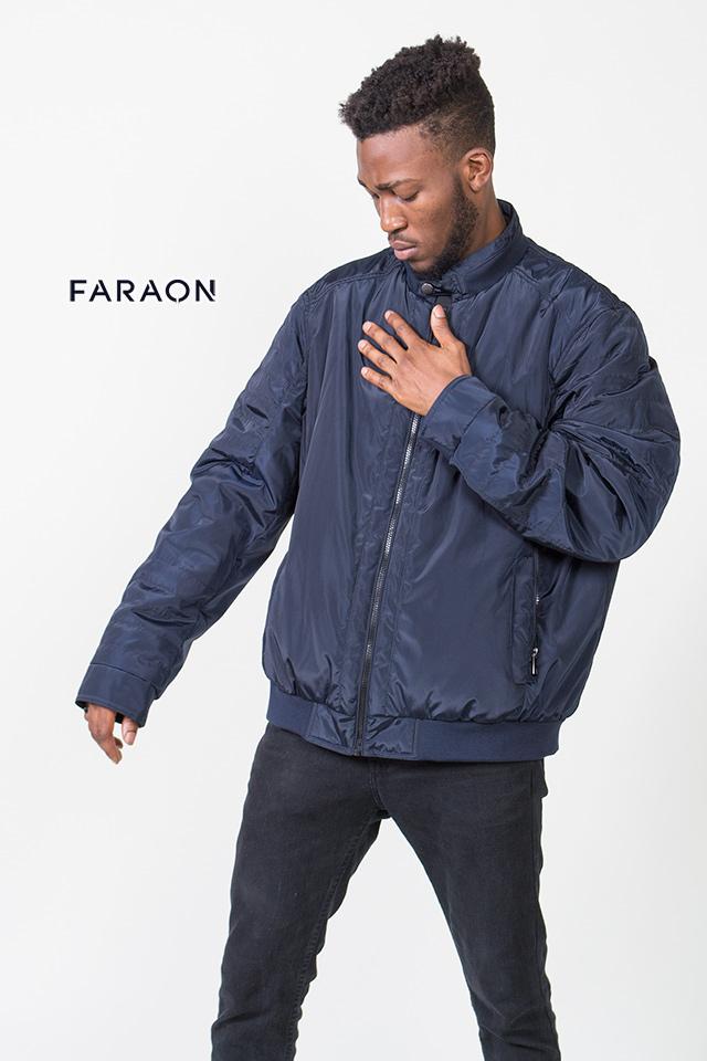 Куртка мужская осенняя облегчённая воротник стойка