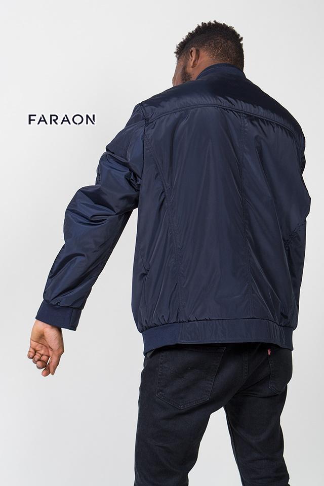 Куртка мужская осенняя синего цвета воротник стойка на молнии спортивного плана