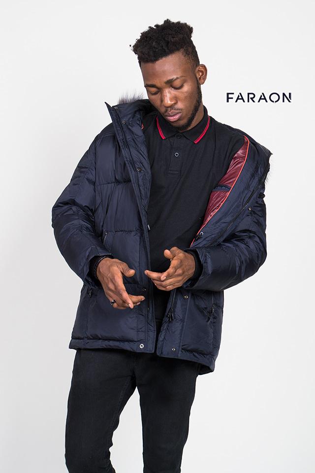 Зимняя куртка мужская,пуховик мужской на биопухе, мужской пуховик с капюшоном.