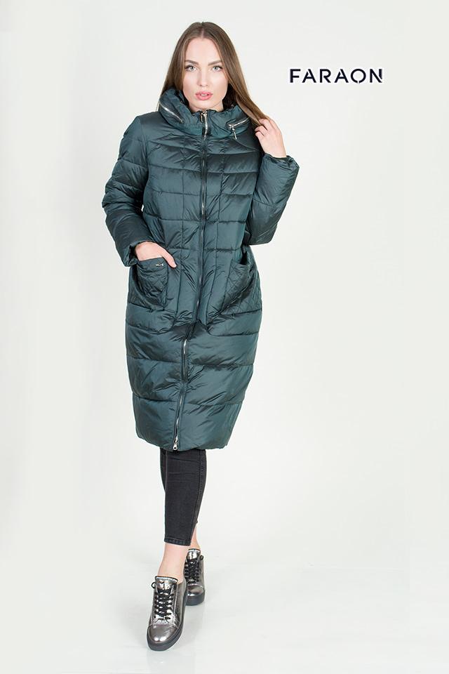 Куртка, пуховик, пальто, женское, зима, теплый, стильный, изумруд, большие размеры, батал, новая коллекция.