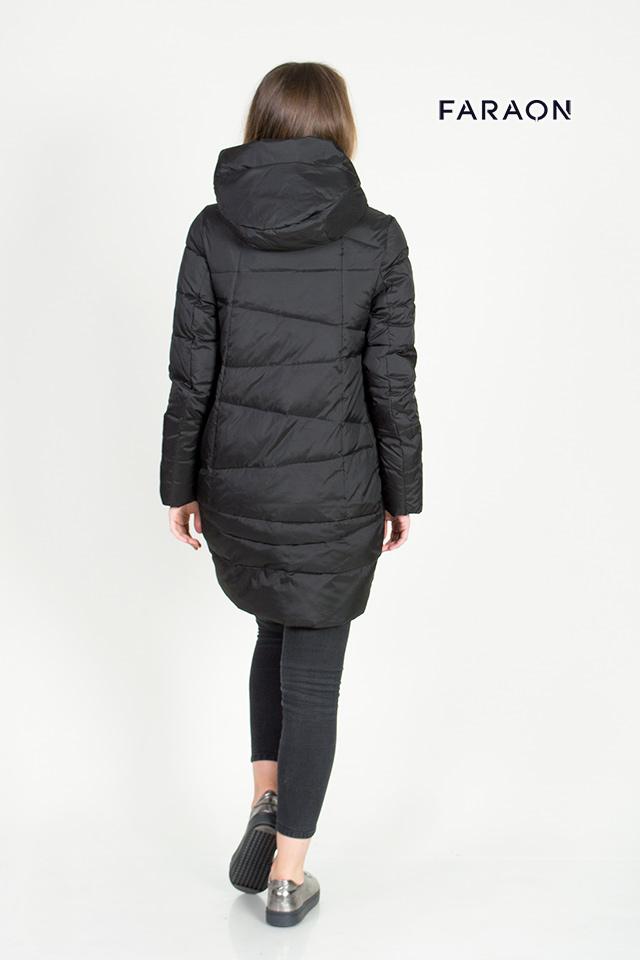 Модный пуховик женский молодёжный цвет чёрный с капюшоном оригинальная отсрочка