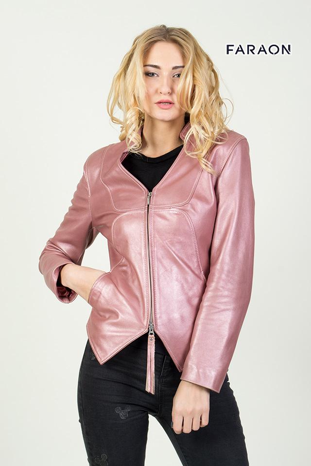 G591. 1000 грн. Шкіряна куртка лілового кольору 006ac8f955125
