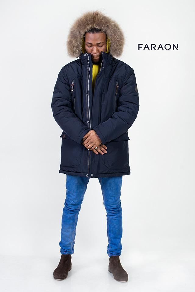 Мужской пуховик темно-синего цвета, мужская аляска, мужская парка , длинный пуховик , мужское пальто