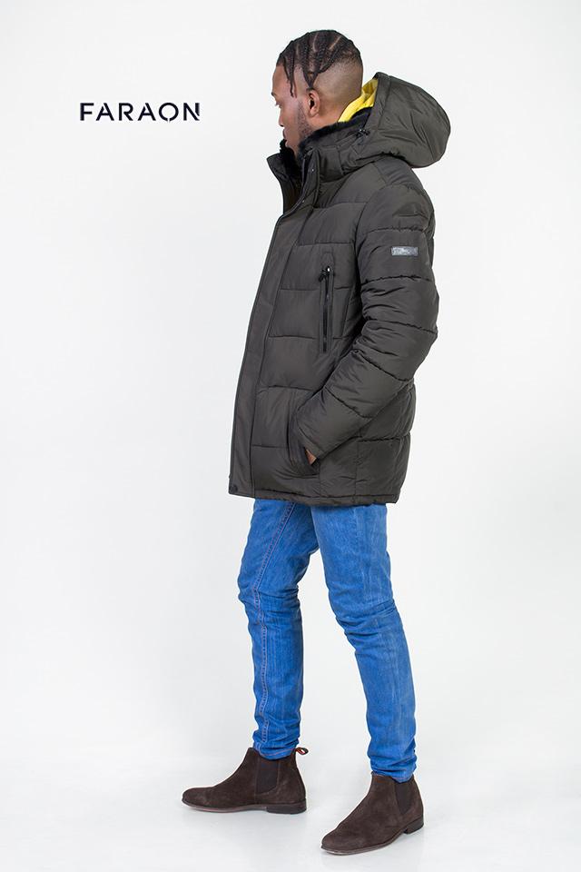 Зимняя мужская куртка, мужской пуховик, куртка на биопухе, мужская зимняя куртка на холлофайбере.