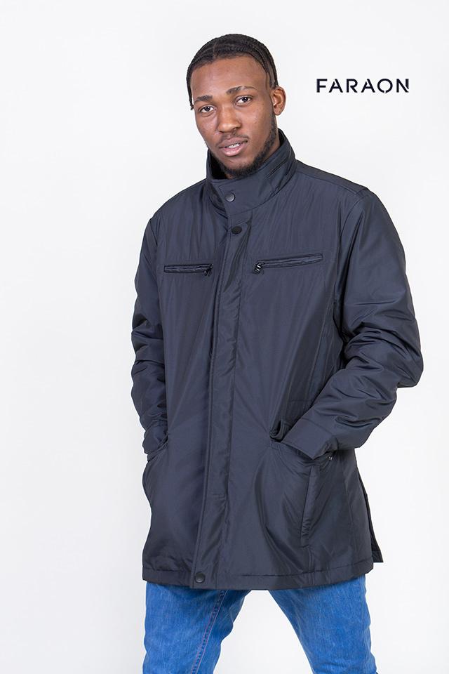 Мужская ветровка, синяя ветровка, короткая куртка
