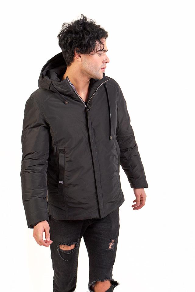 Мужская зимняя куртка с капюшоном,стильная мужская куртка на тинсулейте.Легкий,практичный пуховик цвета хаки.
